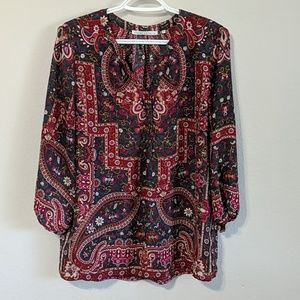 Paisley Floral Patterned Blouse